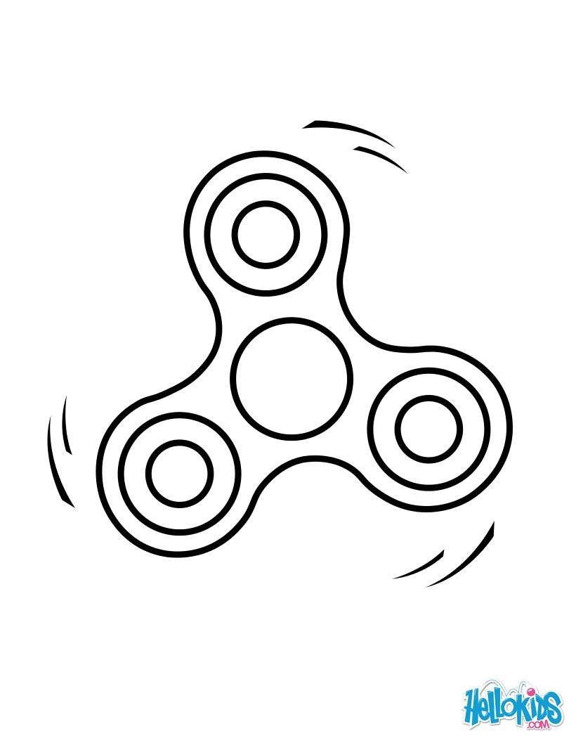 Fidget Spinner Coloring Pages - Fid Spinner 2 Coloring Pages Hellokids