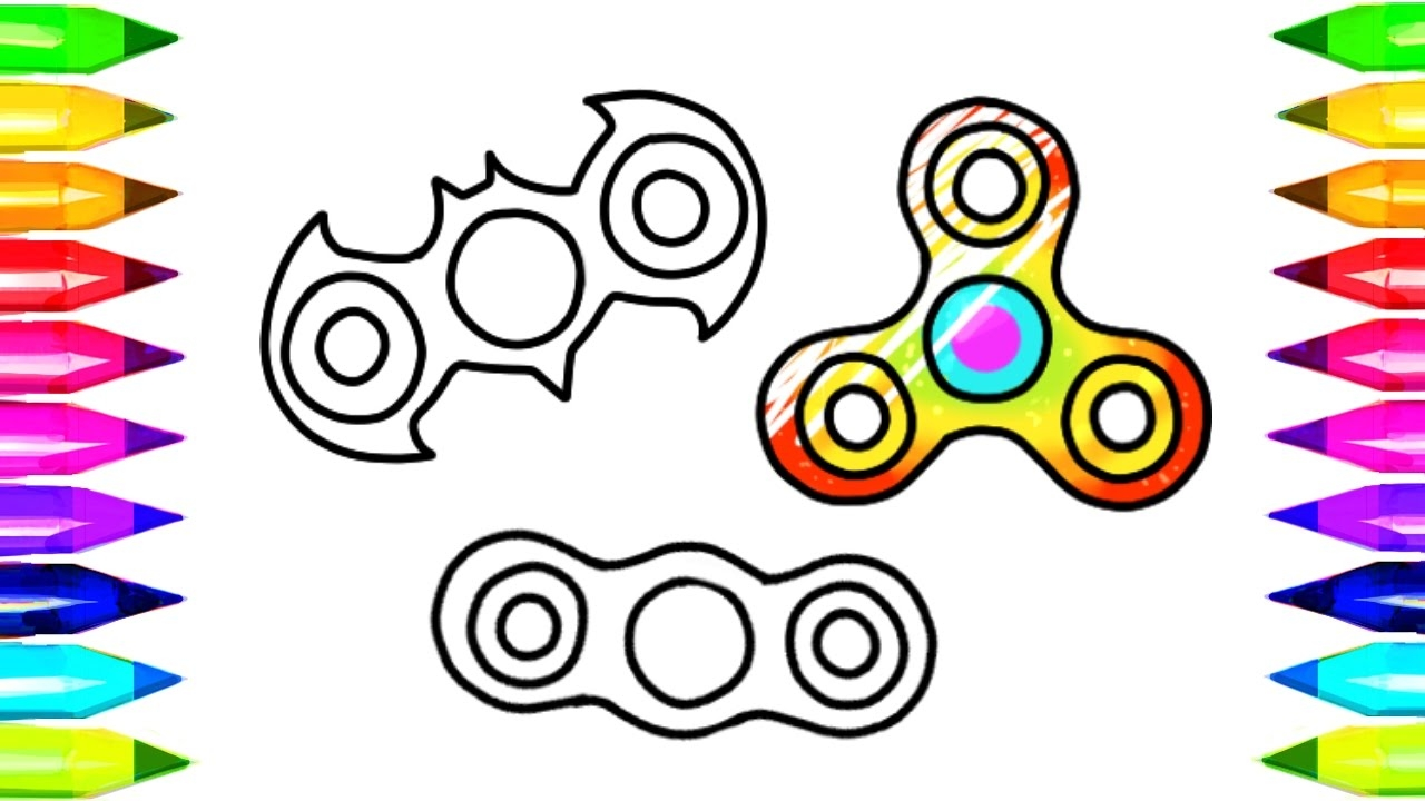 fidget spinner coloring pages - watch v=1B2rPZUgElw