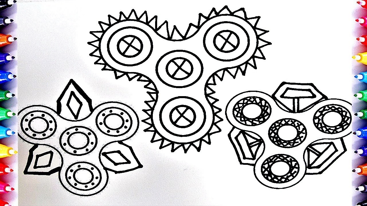 fidget spinner coloring pages - watch v=K d0GWySV64