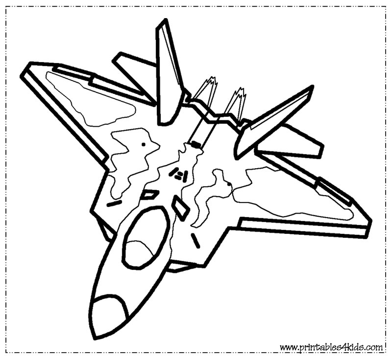 fighter jet coloring pages - r=army air planes