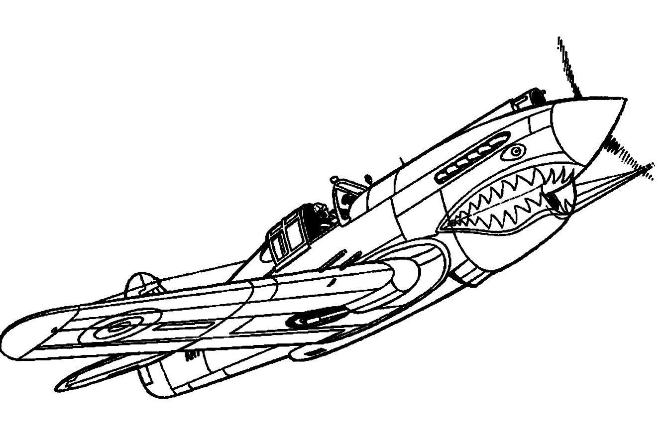 Fighter Jet Coloring Pages - Free Jet Fighter Plane Coloring Pages
