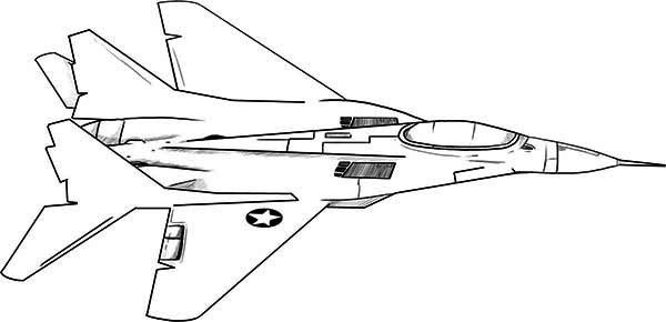 fighter jet coloring pages - 5523