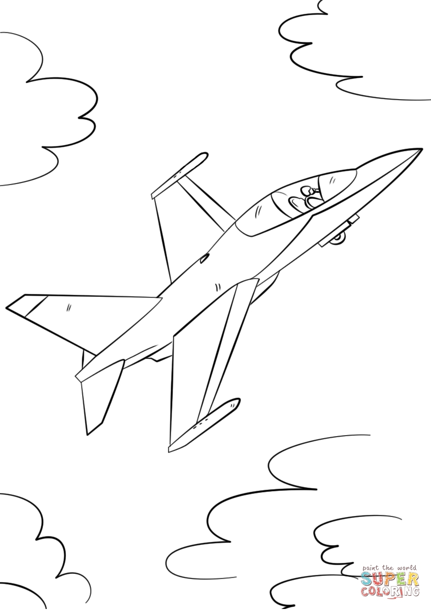 fighter jet coloring pages - military fighter jet