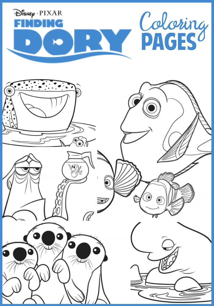 finding dory coloring pages - finding dory coloring pages