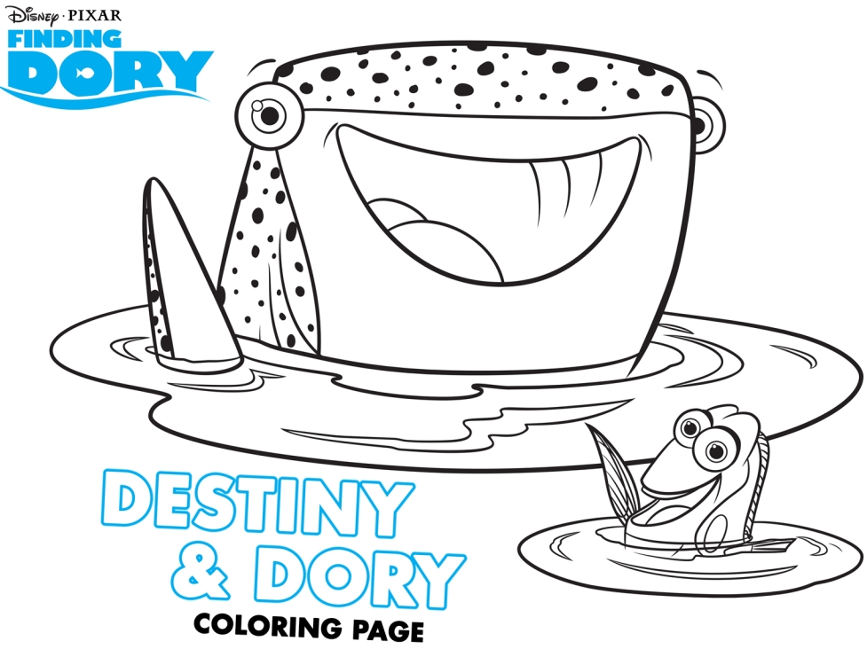 finding dory coloring pages - finding dory free activity and coloring sheets
