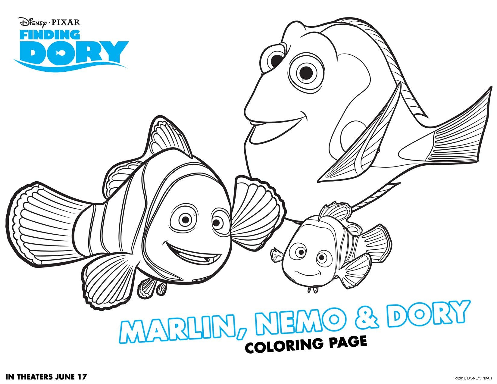 Finding Dory Coloring Pages - Finding Dory Free Printable Activities Teachable Mommy