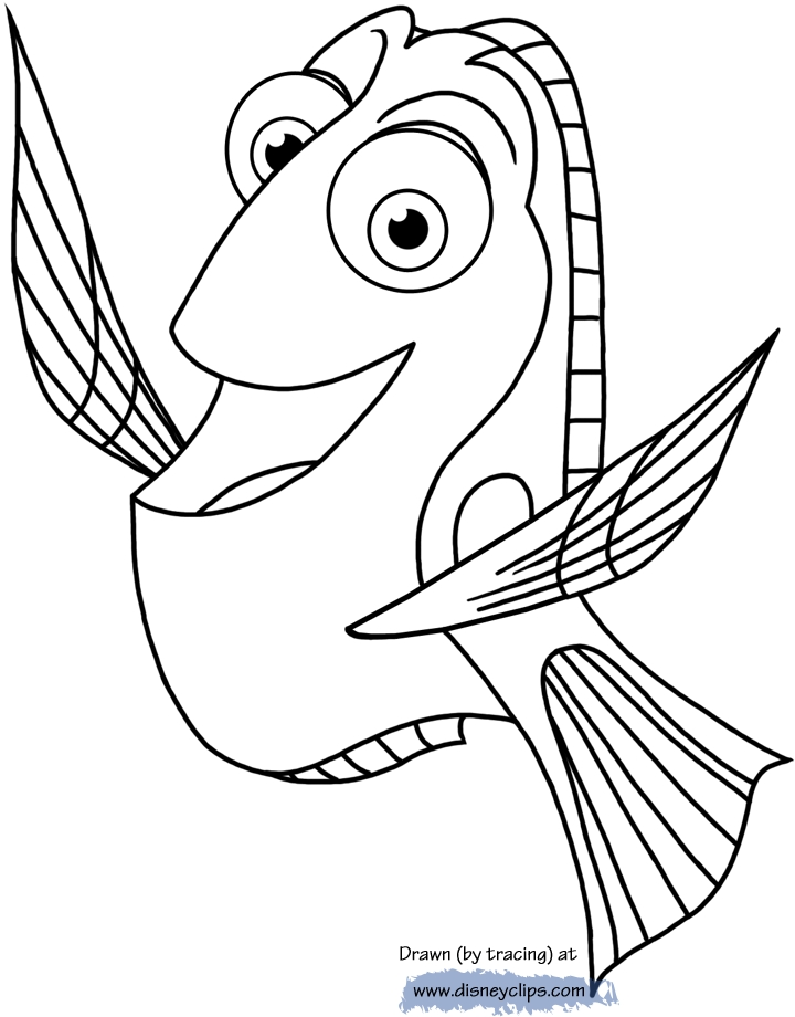 finding dory coloring pages - finding dory coloring
