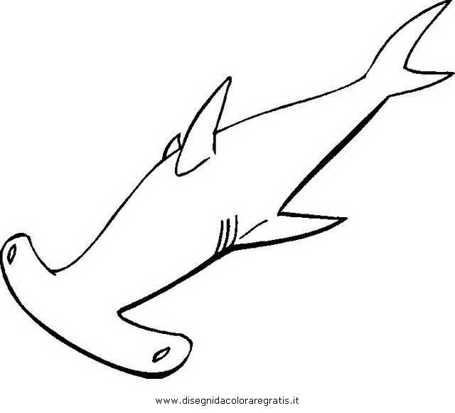 finding nemo coloring pages - di squalo martello