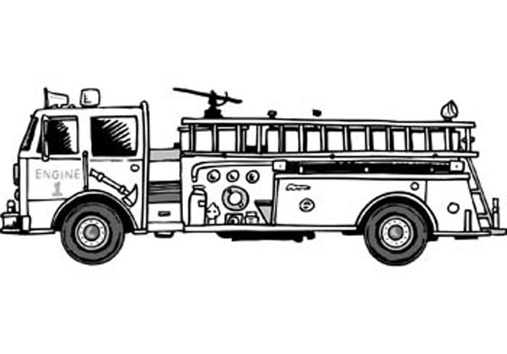fire safety coloring pages - sparky the fire dog coloring pages