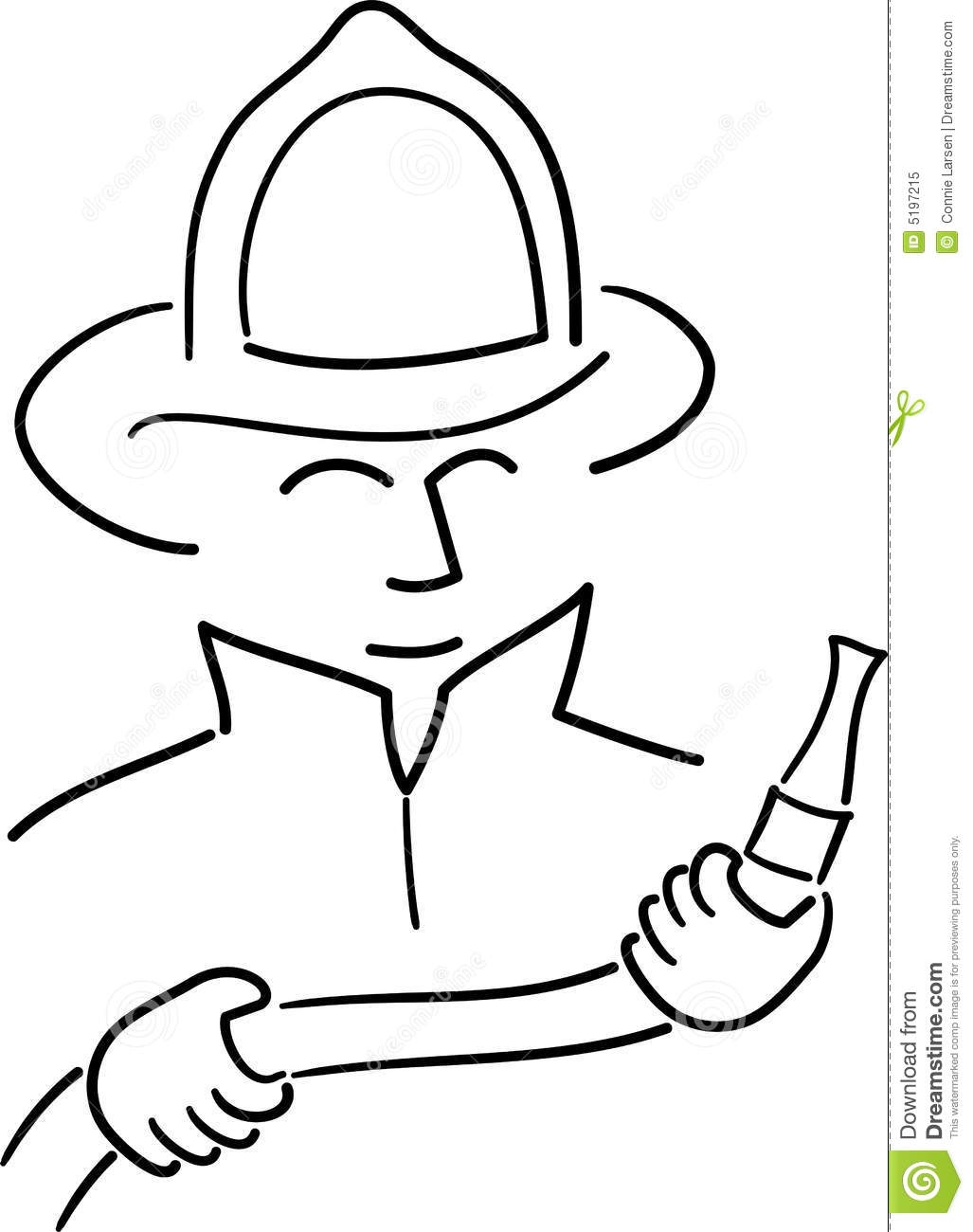 fire safety coloring pages - royalty free stock photo cartoon fireman ai image