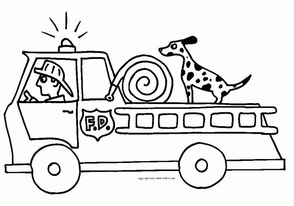 fire truck coloring page - trucks coloring page pages free printable fire truck for kids pictures