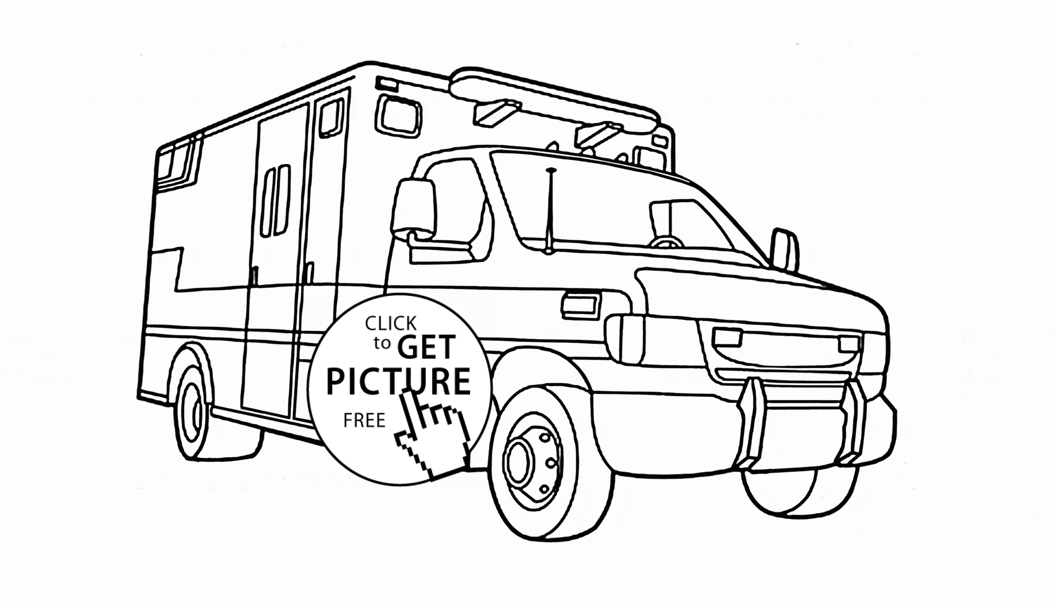 fire truck coloring page - rescue vehicle coloring page for kids transportation coloring pages printables free