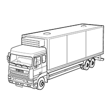 fire truck coloring page - truck coloring pages