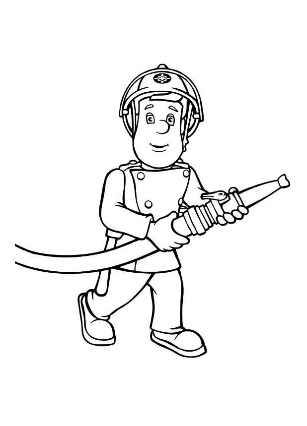 firefighter coloring page - 2