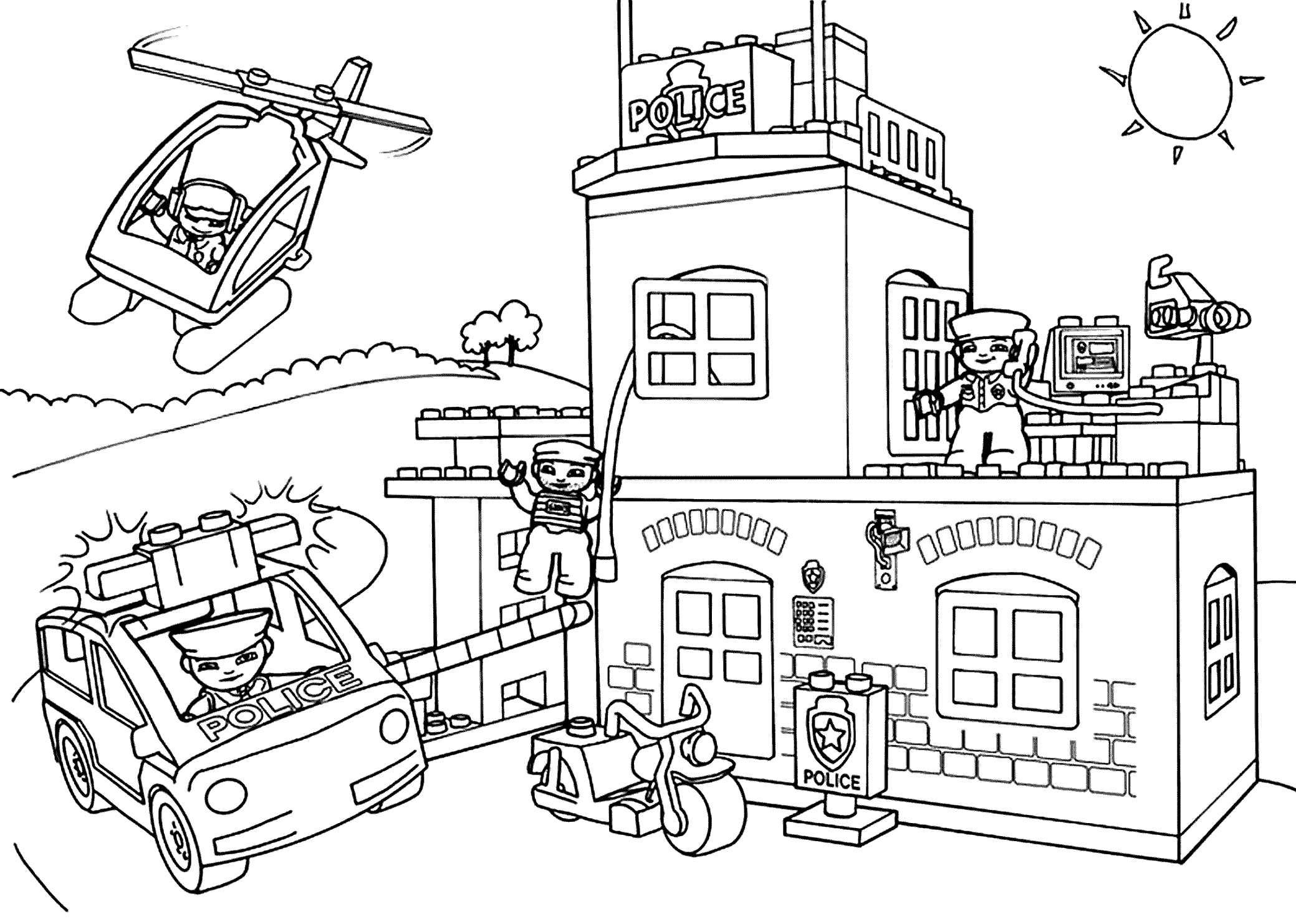 firefighter coloring page - coloring page lego city