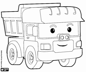 firefighter coloring page - robocar poli coloring pages