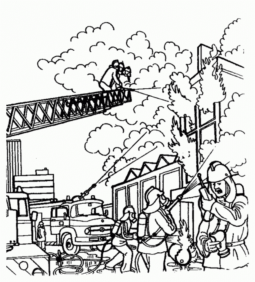 fireman coloring pages -