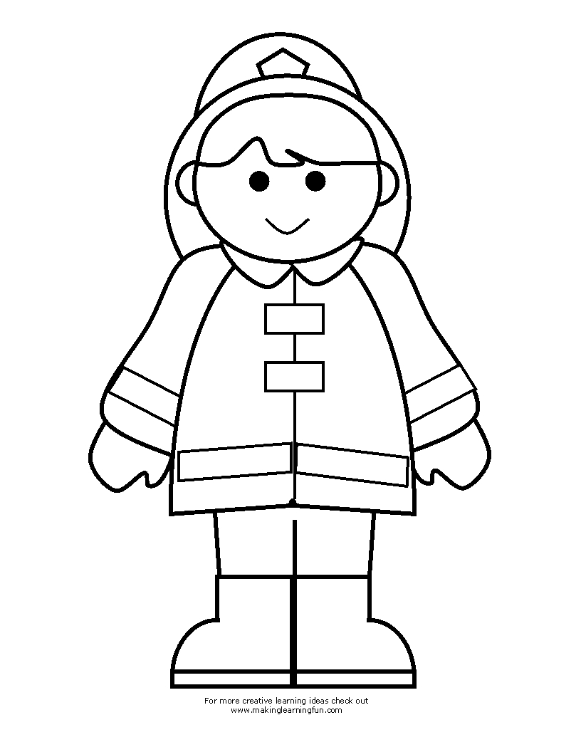 fireman coloring pages - firefighter coloring sketch templates