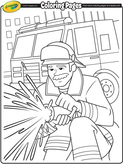 Fireman Coloring Pages - Firefighter Coloring Page