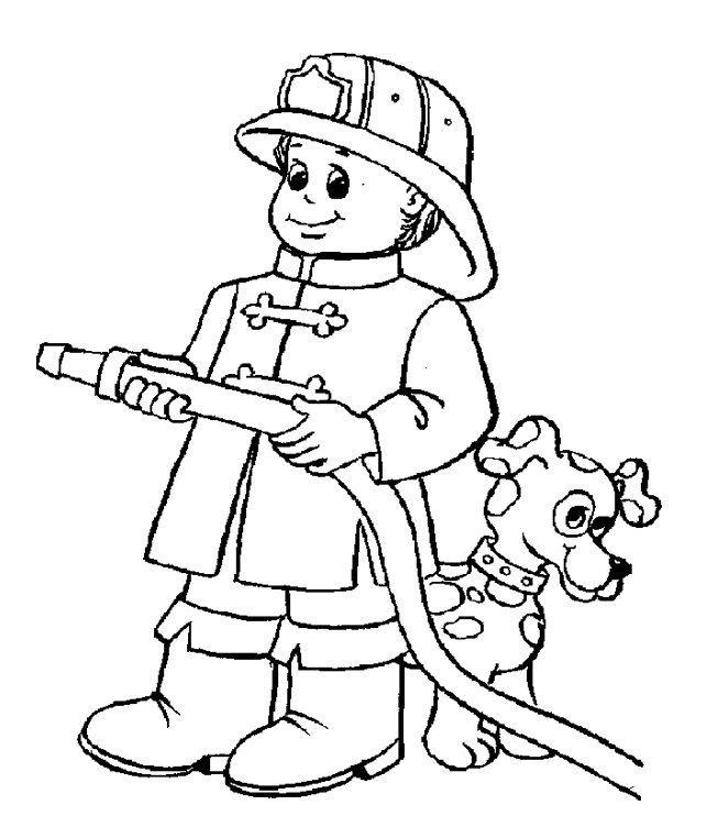 fireman coloring pages - firefighter coloring pages for kids