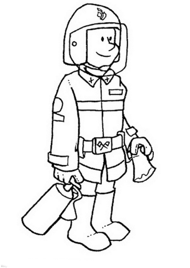 fireman coloring pages - fireman