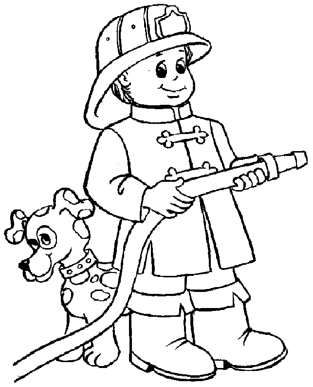 fireman coloring pages - fireman fire fighter printable coloring