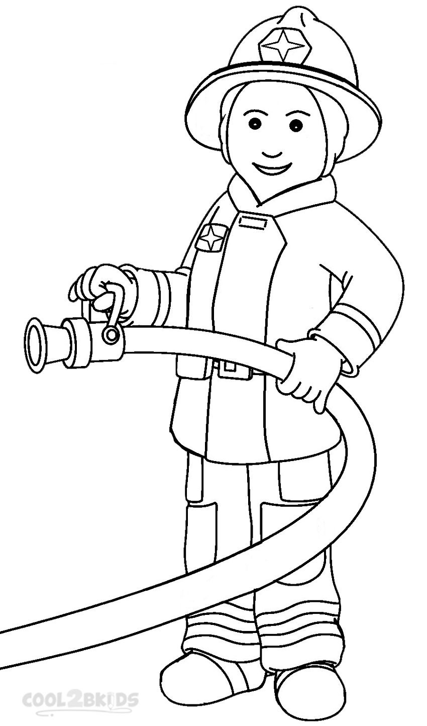 fireman coloring pages - fireman coloring pages