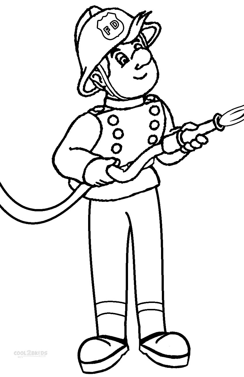 fireman sam coloring pages - fireman coloring pages