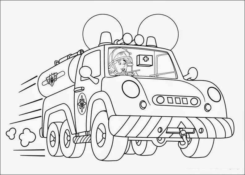 fireman sam coloring pages - fireman sam coloring pages
