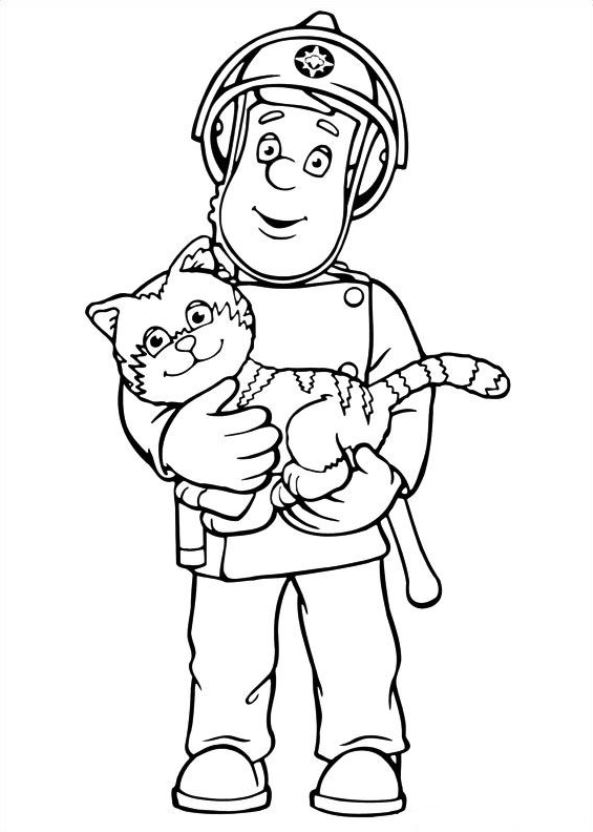 fireman sam coloring pages - fireman sam