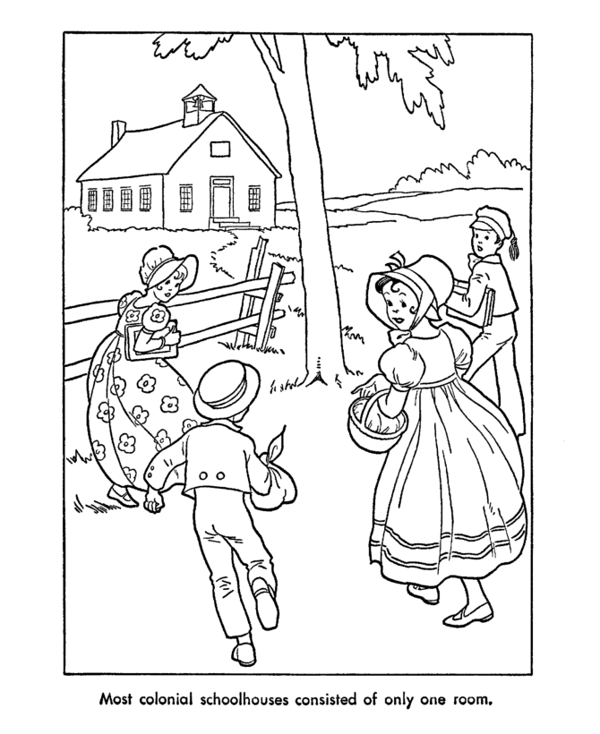 fireplace coloring page - american pioneer coloring pages