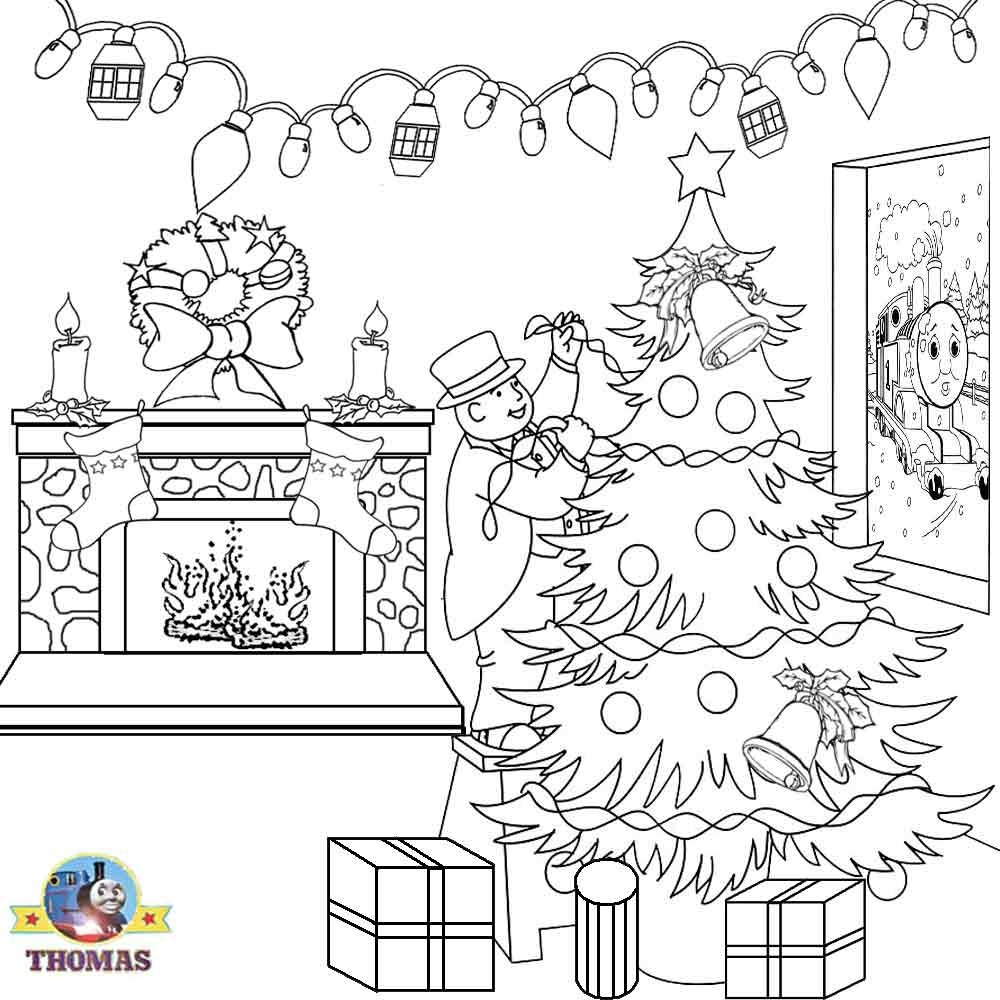 fireplace coloring page - christmas coloring book clip art