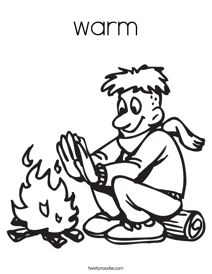 fireplace coloring page - warm coloring page