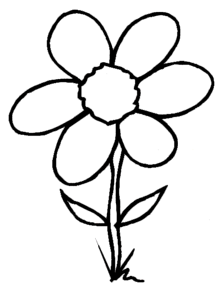 fish coloring pages - flowers