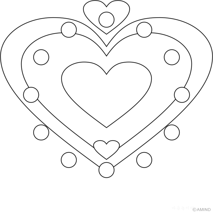 fish coloring pages - heart mandala coloring pages