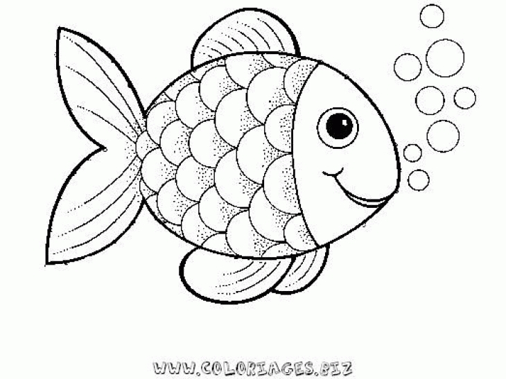 fish coloring pages - album=rainbow fish outline