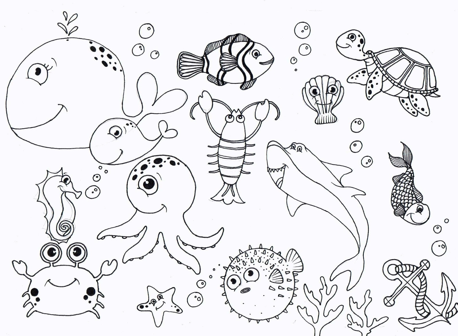 Fish Coloring Pages - Under the Sea Coloring Pages Coloringsuite
