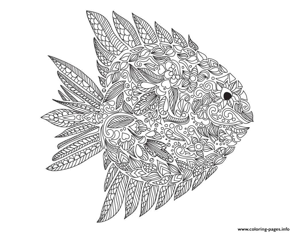 fish coloring pages for adults - adult zentangle fish by artnataliia printable coloring pages book 3492