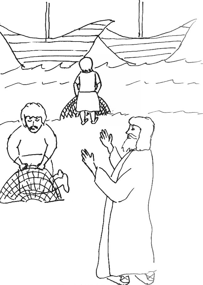 fishers of men coloring page - r=fisher of men