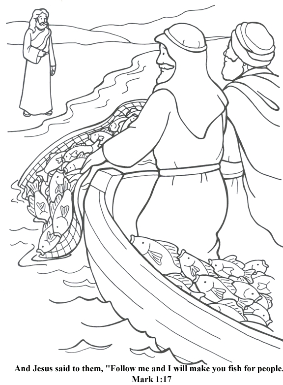 Collection Fishers Of Men Coloring Page Pictures ...