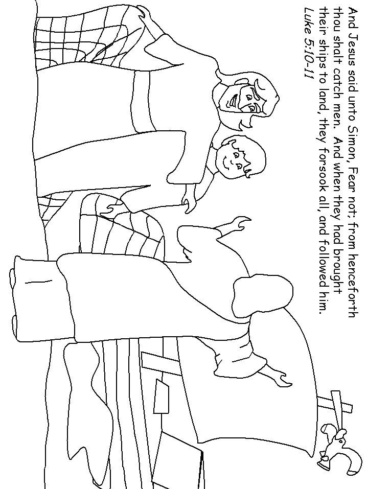 fishers of men coloring page - fishers of men coloring pages