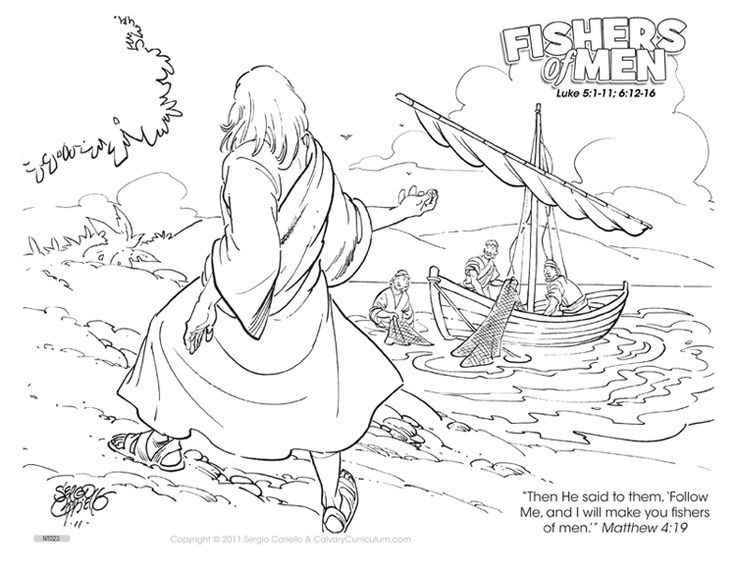 fishers of men coloring page -