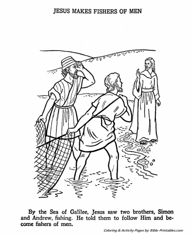 fishers of men coloring page - q=fisher of men