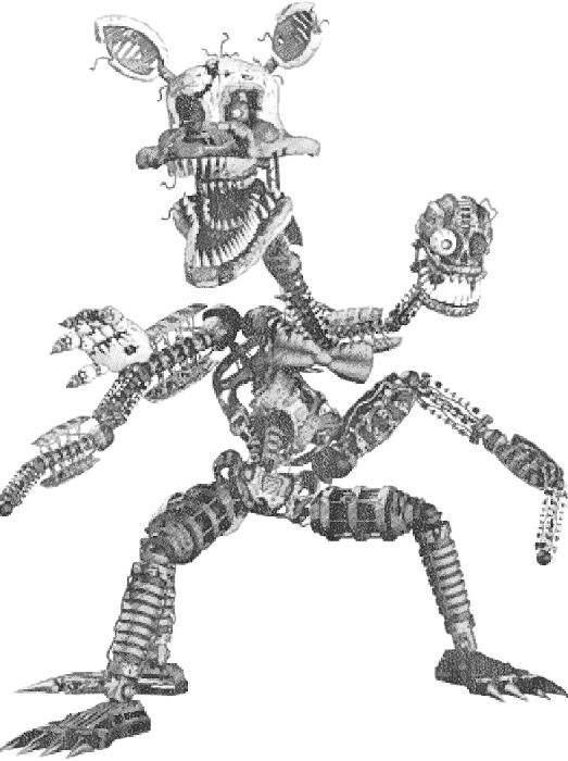 five nights at freddy coloring pages - Drawing of Nightmare Mangle
