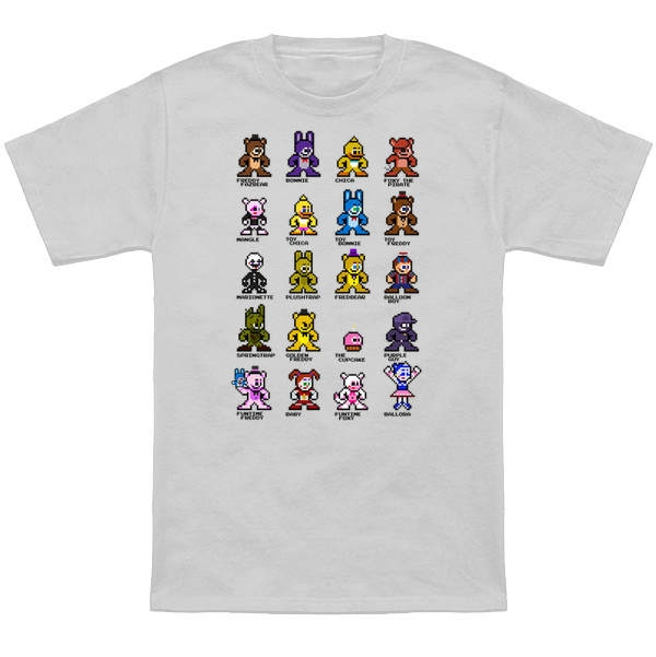 five nights at freddy coloring pages - fnaf world t shirt five nights at