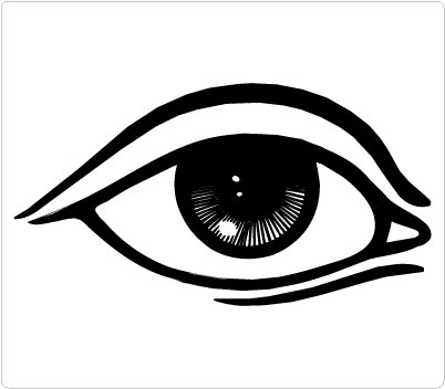 five senses coloring pages - black eye clip art