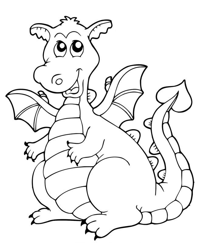 flame coloring page - malvorlage drache