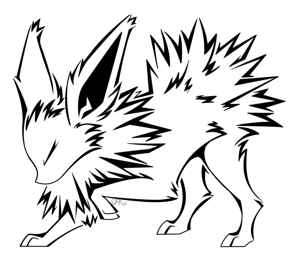 flareon coloring page - Jolteon Tattoo