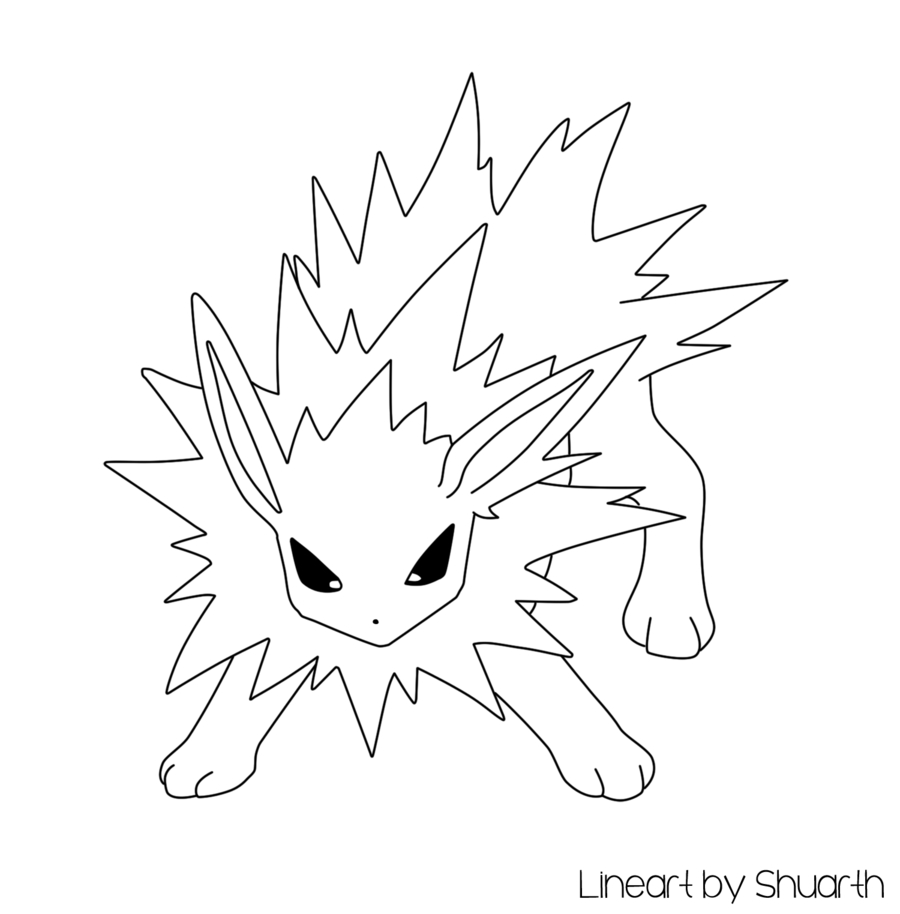 Flareon Coloring Page - Pokemon Jolteon Lineart by Shuarth On Deviantart