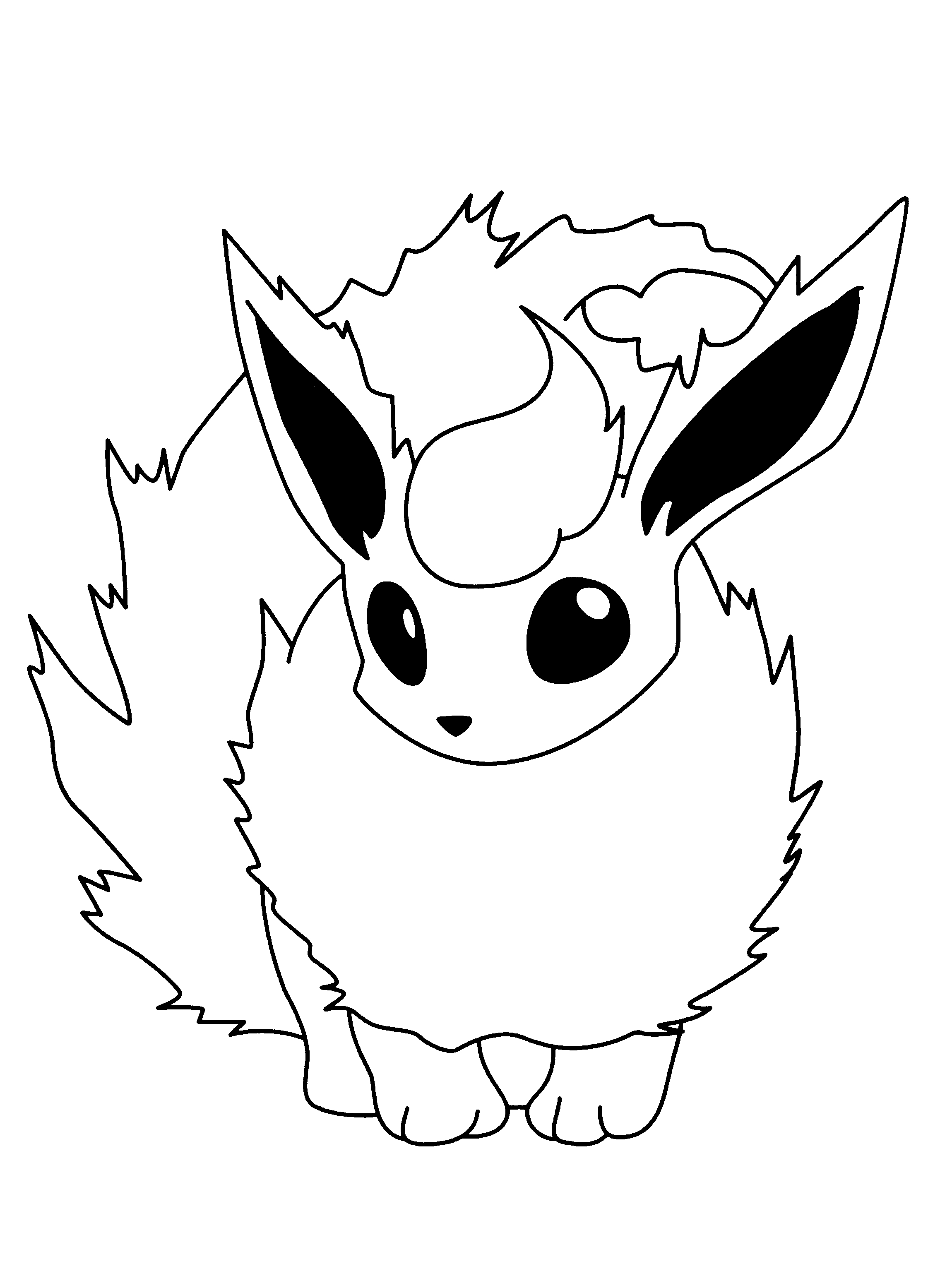 flareon coloring page - pokemon
